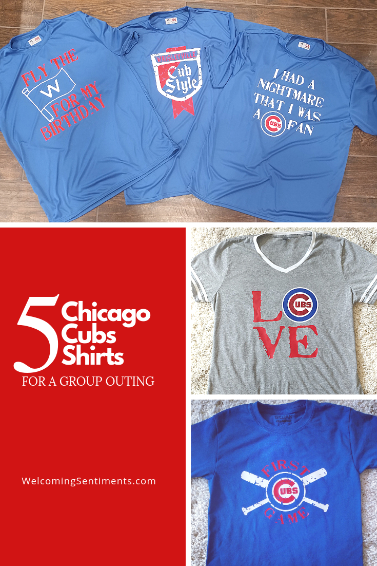 5 Custom Chicago Cubs shirts